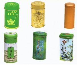 tin plate tea cans